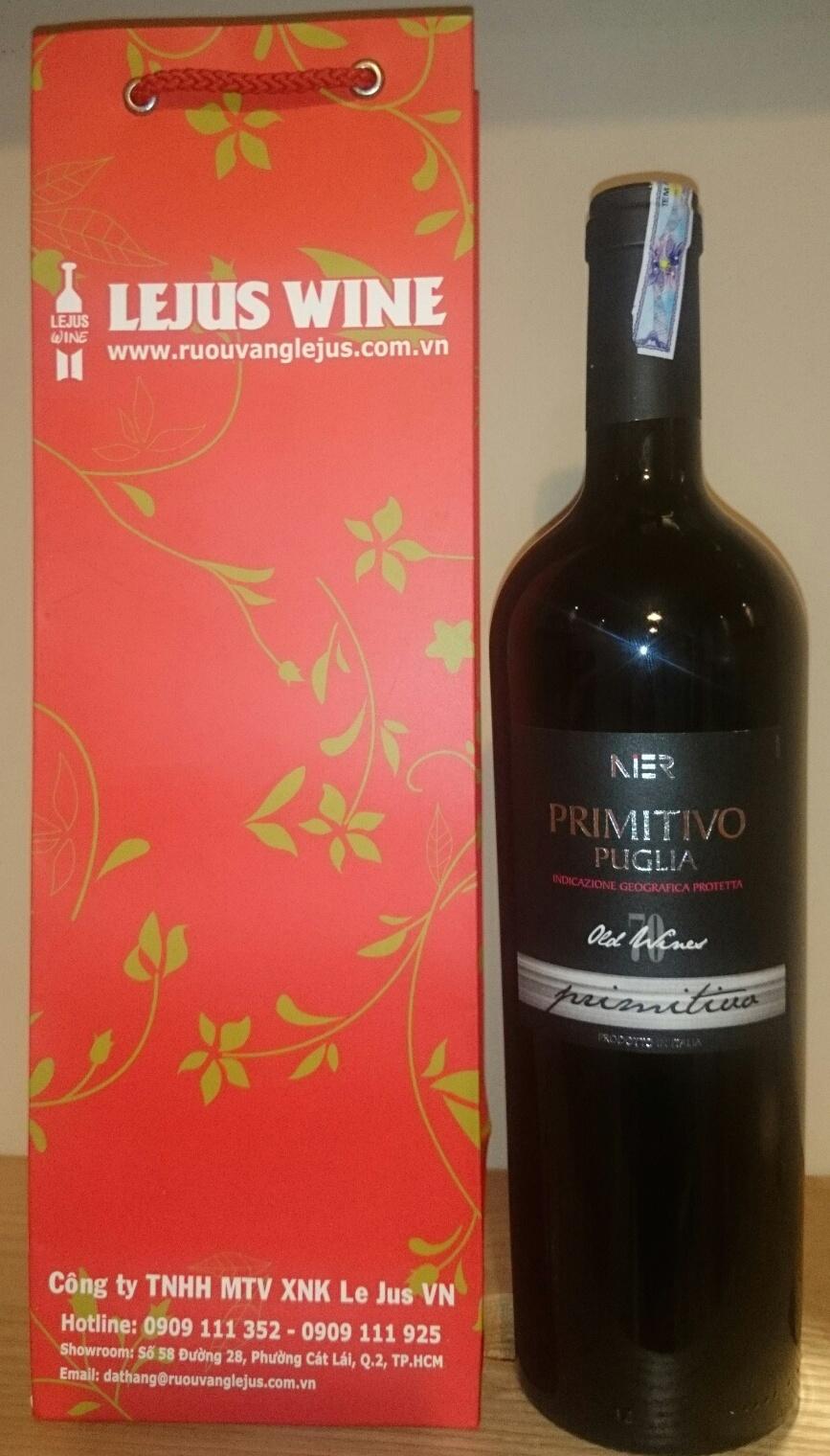 Primitivo 70 năm old vines - Rượu vang Ý nhập khẩu