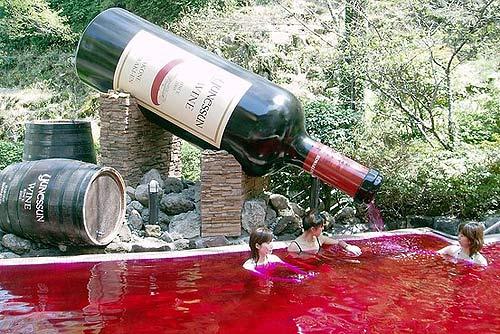 Tắm rượu vang làm đẹp