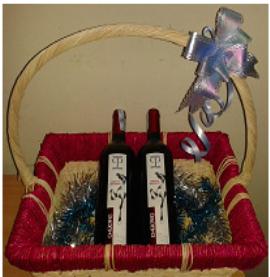 Giỏ quà 2 chai rượu vang