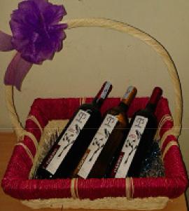 Giỏ quà 3 chai rượu vang