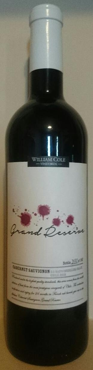 William Cole Grand Reserva - Rượu vang Chile nhập khẩu